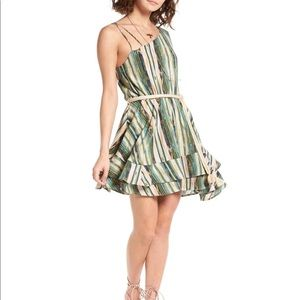 Free People | Green Heart Shaped Face Mini Dress M
